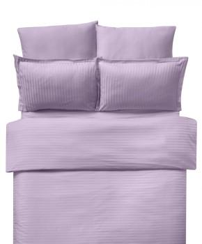Lenjerie de pat damasc cu elastic ptr saltea de 180cm - lila