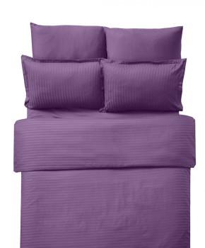 Lenjerie de pat damasc cu elastic ptr saltea de 180cm - mov