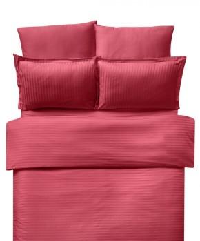Lenjerie de pat damasc satinat culoarea rosu