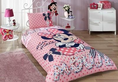 Lenjerie de pat TAC Disney 3piese Minnie Mouse Dream