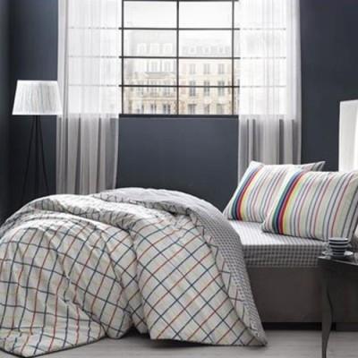 Lenjerie de pat cu elastic pentru saltea de 160x200cm, bumbac 100% ranforce, TAC, Jina