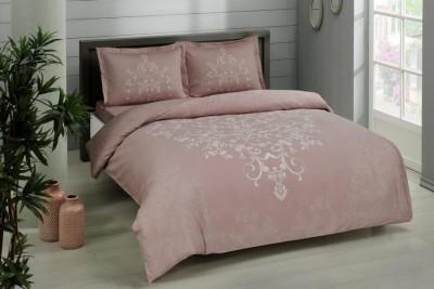 Lenjerie de pat dublu bumbac 100% satinat, TAC, Anissa roz