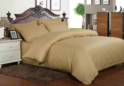 Lenjerie de pat dublu damasc culoarea maro