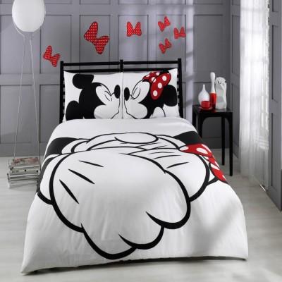 Lenjerie de pat dublu Tac Disney Mickey & Minnie Adore