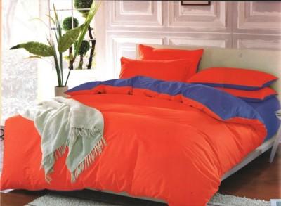 Oferta 1+1gratis: Lenjerie de pat dublu 4 piese portocaliu cu mov MX12