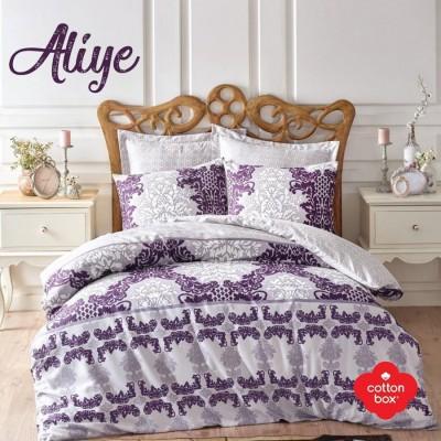 Lenjerie de pat premium satin de lux, Cotton Box, Aliye - Purple