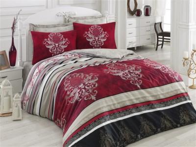 Lenjerie de pat premium satin de lux, Cotton Box, Azra - Claret Red