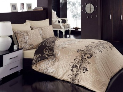 Lenjerie de pat premium satin de lux, Cotton Box, Cemile - Beige