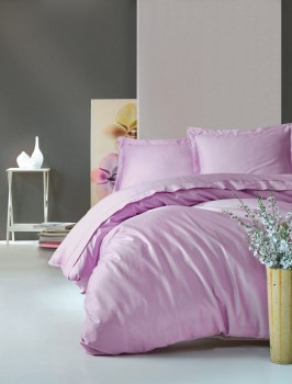 Lenjerie de pat premium satin de lux, Cotton Box, Elegant - Lilac