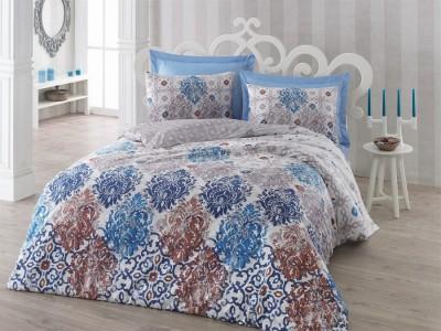 Lenjerie de pat premium satin de lux, Cotton Box, Gönül - Brown