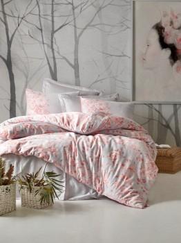 Lenjerie de pat premium satin de lux, Cotton Box, Jardin - Grey