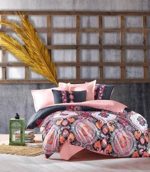 Lenjerie de pat premium satin de lux, Cotton Box, Luisa - Powder