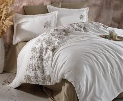 Lenjerie de pat premium satin de lux cu broderie, Clasy, Enza