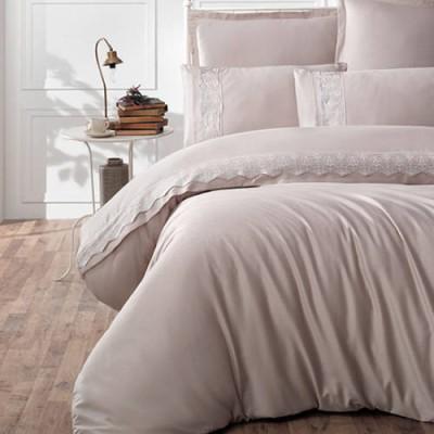 Lenjerie de pat premium satin de lux cu broderie, Clasy, Mona V2