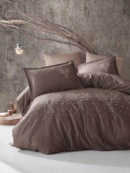 Lenjerie de pat premium satin de lux cu broderie, Clasy, Zeplin V1