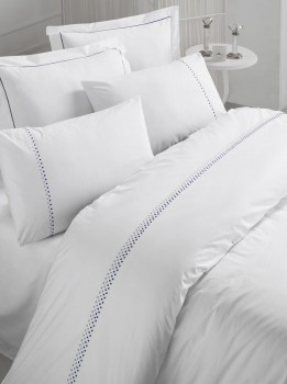 Lenjerie de pat de lux cu broderie, Cotton Box, Dante