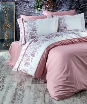 Lenjerie de pat premium satin de lux, Marie Lou, Romance Juliette Rose