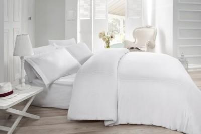 Lenjerie de pat satin de lux cu broderie, Cotton Box, Gulbin