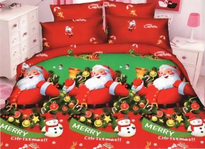 Lenjerii de pat dublu imprimeu Craciun, Ralex Pucioasa, Merry Christmas