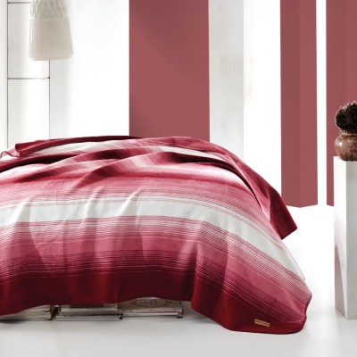 Patura bumbac si acryl 200x220cm, Marie Claire, Gill - Claret Red