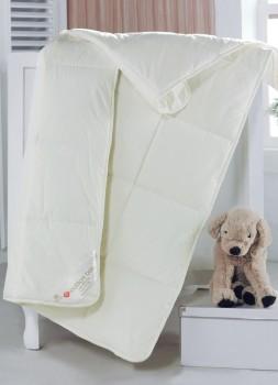 Pilota pentru bebelusi cu umplutura de lana, Cotton Box, 95x145 cm, Ecru