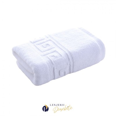 Prosop alb bumbac 100% dimensiune 30x50cm