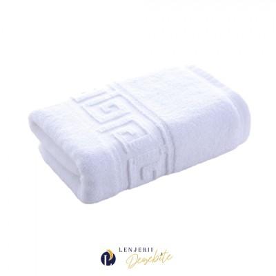 Prosop alb bumbac 100% dimensiune 50x90cm