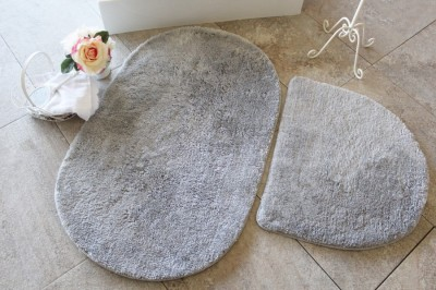Set 2 covorase baie , Alessia Home, Colors of Oval - Grey