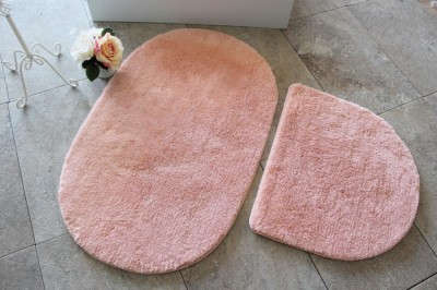 Set 2 covorase baie , Alessia Home, Colors of Oval - Salmon