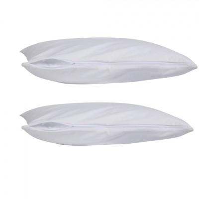 Set 2 protectii perna impermeabile, bumbac 100%, 50 x 70 cm