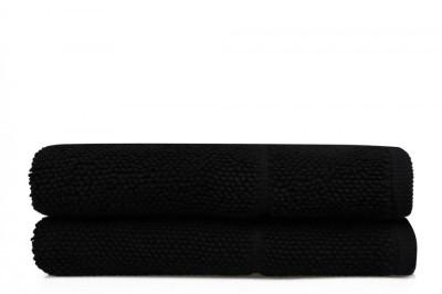 Set 2 prosoape bumbac 100%, Beverly Hills Polo Club, 50x100cm, Negru, cod A- 126