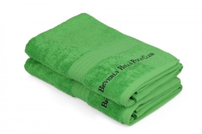 Set 2 prosoape bumbac 100%, Beverly Hills Polo Club, Verde 71x137cm, A 148