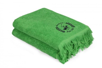 Set 2 prosoape bumbac 100%, Beverly Hills Polo Club, Verde 75x140cm, cod A- 154
