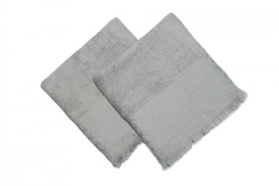 Set 2 prosoape bumbac 100% cu franjuri, 50x90cm, Şehzade Hazelnut