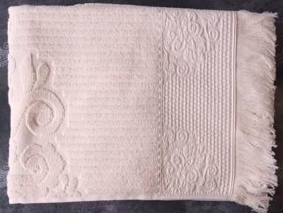 Set 2 prosoape bumbac 100% cu tesatura jacquard 50x90cm, Biella Cream
