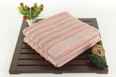 Set 2 prosoape de baie Saheser, bumbac 100%, Bombeli roz-gri