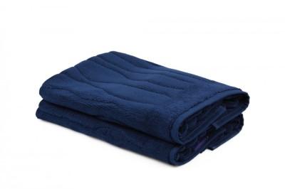 Set 2 prosoape de picioare, bumbac 100%, Beverly Hills Polo Club, Dark Blue, 50x75, cod Gartex - Marine