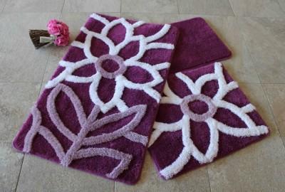 Set 3 covorase baie, Alessia Home, Naturel - Purple