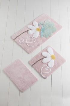 Set 3 covorase baie, Alessia Home, Ponte - Pink