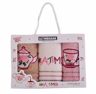 Set 3 prosoape bucatarie bumbac 100%, Tea Time