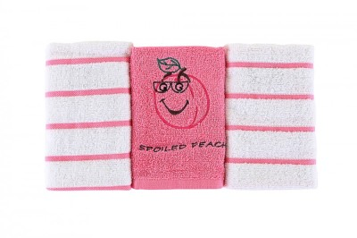 Set 3 prosoape bumbac 100% , 30x50cm, Line-Pink