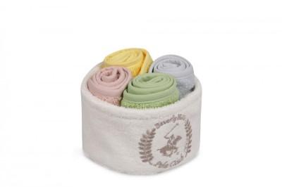 Set 4 prosoape bumbac 100%, Beverly Hills Polo Club, cod Imagine - Blue, Rose, Yellow, Green