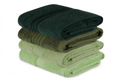 Set 4 prosoape bumbac 100%,Hobby Home, 50x90 cm, Rainbow - Verde