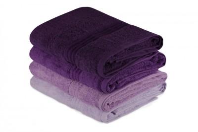 Set 4 prosoape bumbac 100%,Hobby Home, 70x140 cm, Rainbow - Lilac