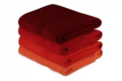 Set 4 prosoape bumbac 100%,Hobby Home, 70x140 cm, Rainbow - Red