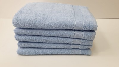Set 5 prosoape baie bumbac 100% 70x140cm, bleu inchis