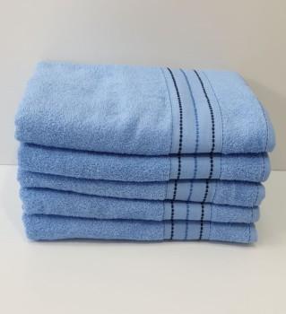 Set 5 prosoape baie bumbac 100% 70x140cm, bleu