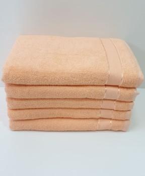 Set 5 prosoape baie bumbac 100% 70x140cm, salmon