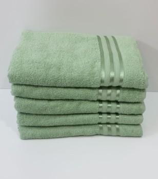 Set 5 prosoape baie bumbac 100% 70x140cm, verde