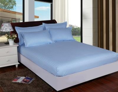 Set husa de pat din damasc+ 2 fete de perna pentru saltea de 140x200cm DHUS13